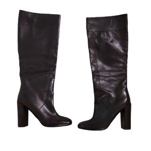 Max&Co Leather Pull On Boots